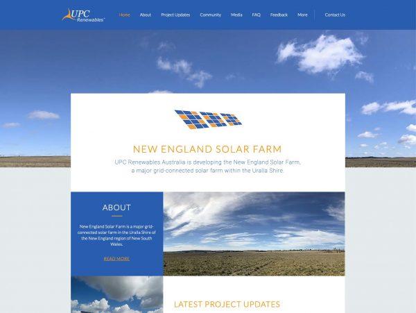 New England Solar Farm.